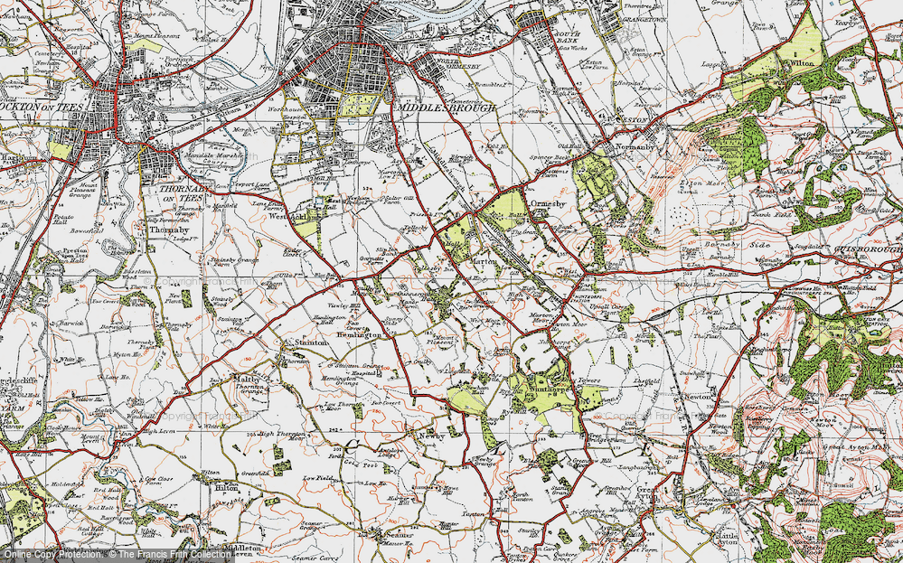 Old Map of Marton, 1925 in 1925