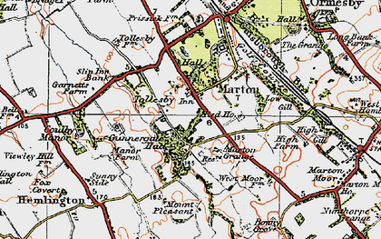 Old map of Marton in 1925