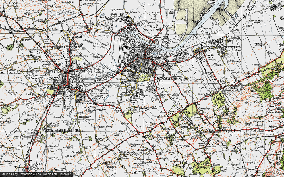 Old Map of Marton Grove, 1925 in 1925