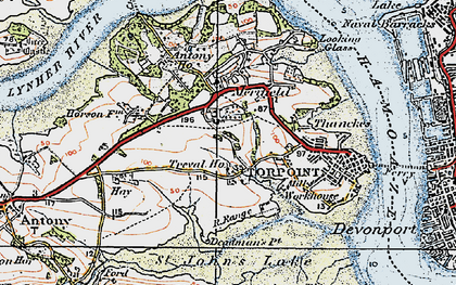 Old map of Maryfield in 1919