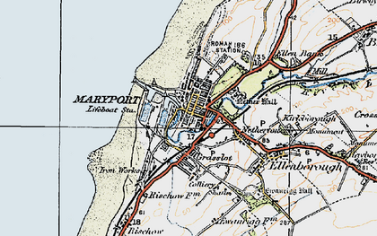 Old map of Maryport in 1925