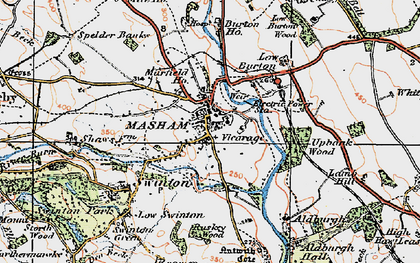 Old map of Aldburgh Hall in 1925