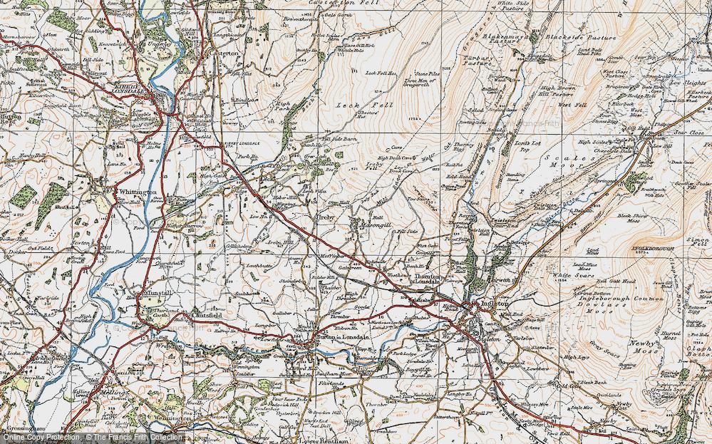 Old Map of Masongill, 1925 in 1925