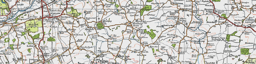 Old map of Matching Green in 1919