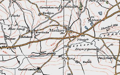 Old map of Y Craig in 1922