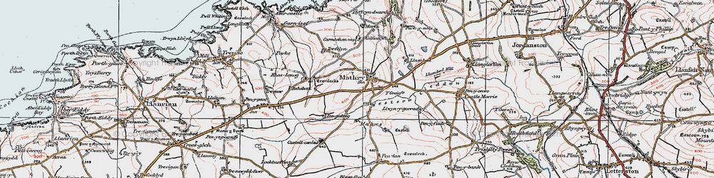 Old map of Western Cleddau in 1922