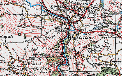 Old map of Matlock in 1923