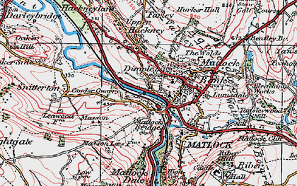 Old map of Matlock Bank in 1923