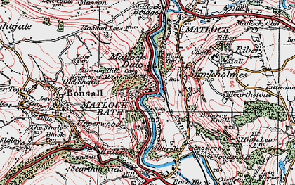 Old map of Matlock Bath in 1923
