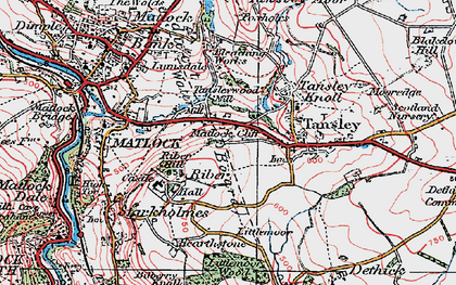 Old map of Matlock Cliff in 1923