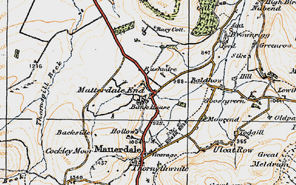Old map of Bald Howe in 1925