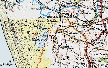 Old map of Maudlam in 1922