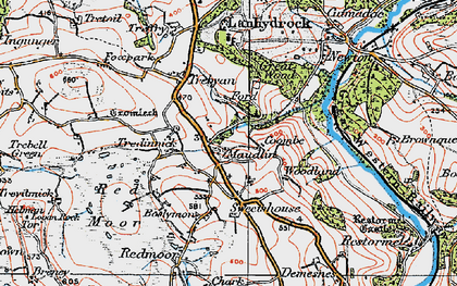 Old map of Maudlin in 1919