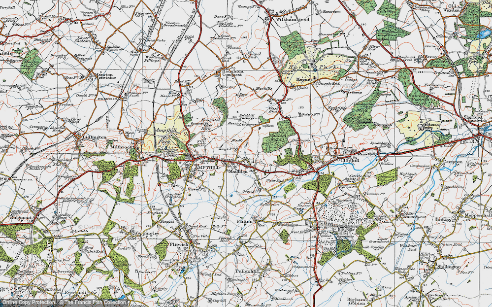 Old Map of Maulden, 1919 in 1919