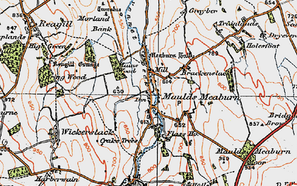 Old map of Lankaber in 1925