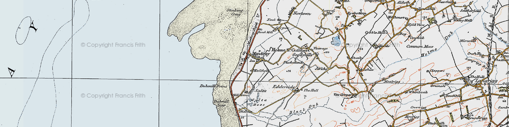 Old map of Allerdale Ramble in 1925