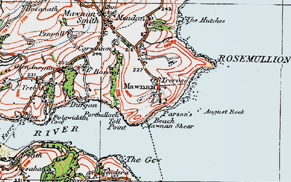 Old map of August Rock in 1919