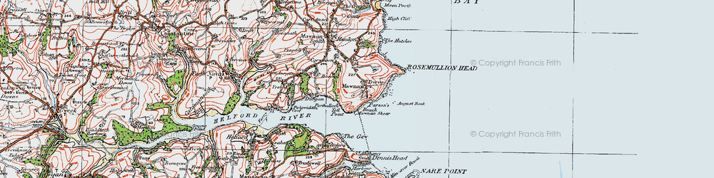 Old map of Toll Point in 1919