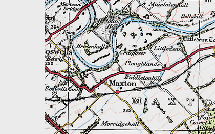 Old map of Lilliardsedge in 1926