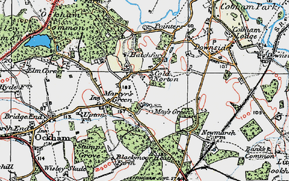 Old map of May's Green in 1920