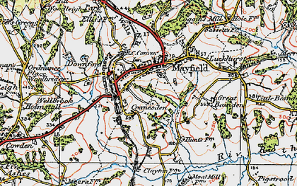 Old map of Mayfield in 1920