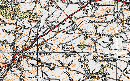 Old map of Whistley Hill in 1919
