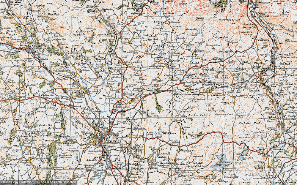 Old Map of Historic Map covering Laverock Bridge Ho in 1925