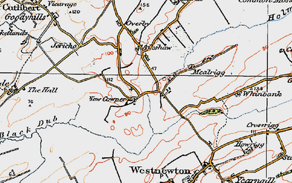 Old map of Aikshaw in 1925