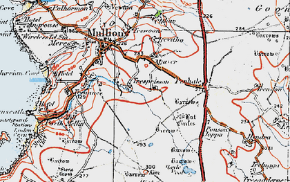 Old map of Meaver in 1919