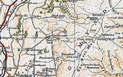 Old map of Adstone Hill in 1921