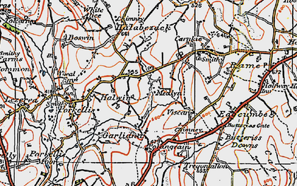 Old map of Medlyn in 1919