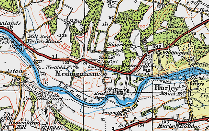 Old map of Medmenham in 1919