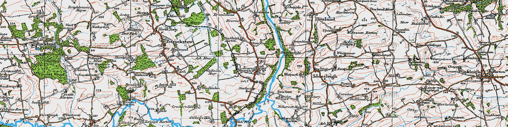 Old map of Woolladon in 1919