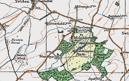 Old map of Woodleys in 1919