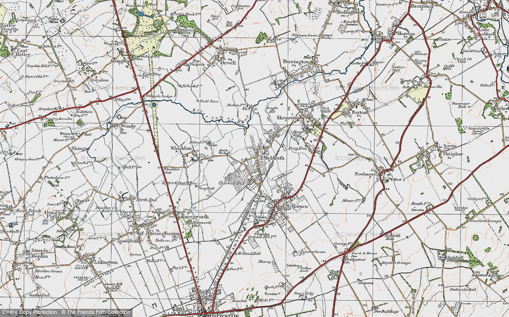 Old Map of Meldreth, 1920 in 1920