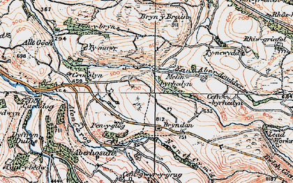 Old map of Bacheiddon in 1921