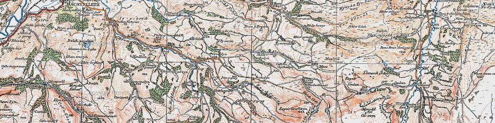 Old map of Melinbyrhedyn in 1921