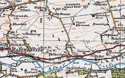 Old map of Winshields in 1925