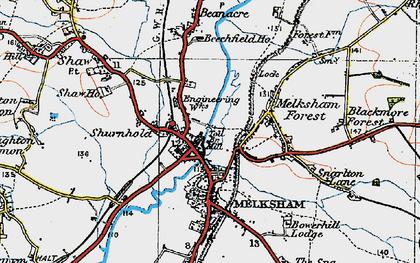 Old map of Melksham in 1919