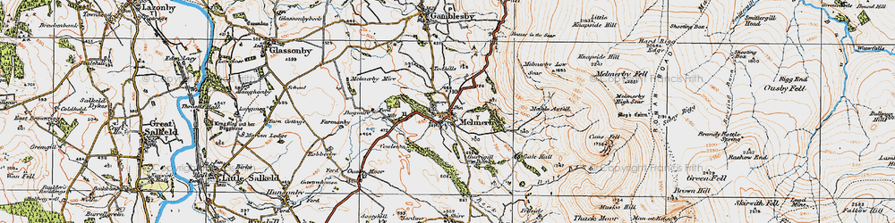 Old map of Todhills in 1925
