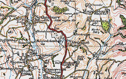 Old map of Melplash in 1919