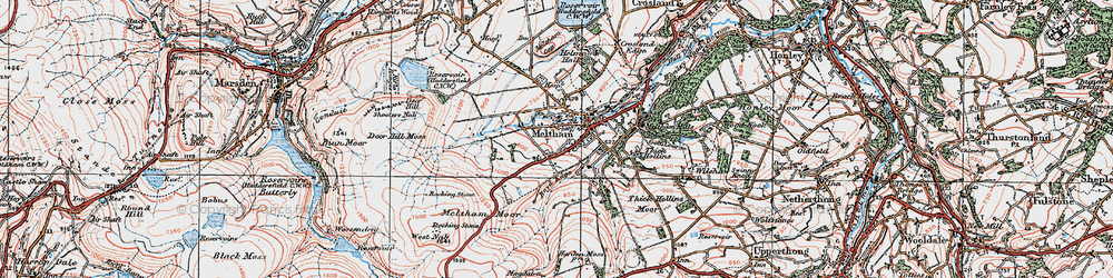 Old map of West Nab in 1924