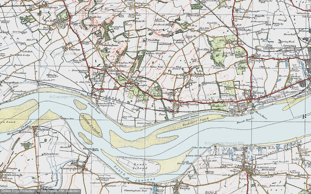 Old Map of Melton, 1924 in 1924