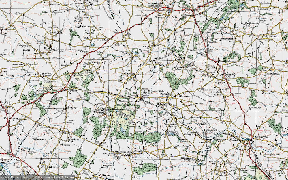 Old Maps of Melton Constable Francis Frith