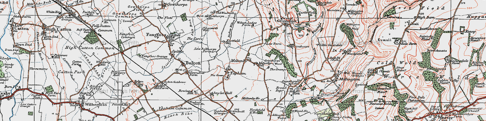 Old map of Wilton Lodge in 1924