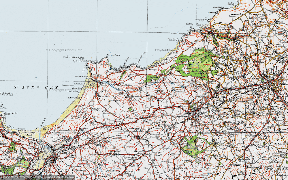Old Map of Historic Map covering Ashill in 1919
