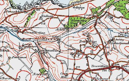 Old map of Menadarva in 1919