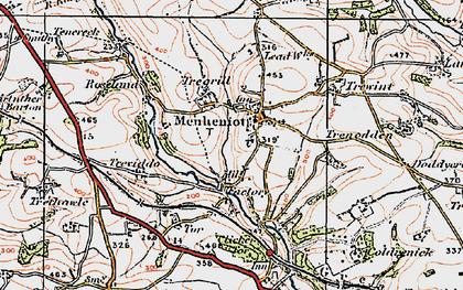 Old map of Menheniot in 1919