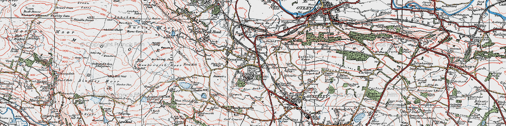 Old map of Mire Beck in 1925