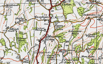 Old map of Meopham in 1920